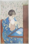 The Letter by Mary Cassatt - offset lithograph fine art poster print