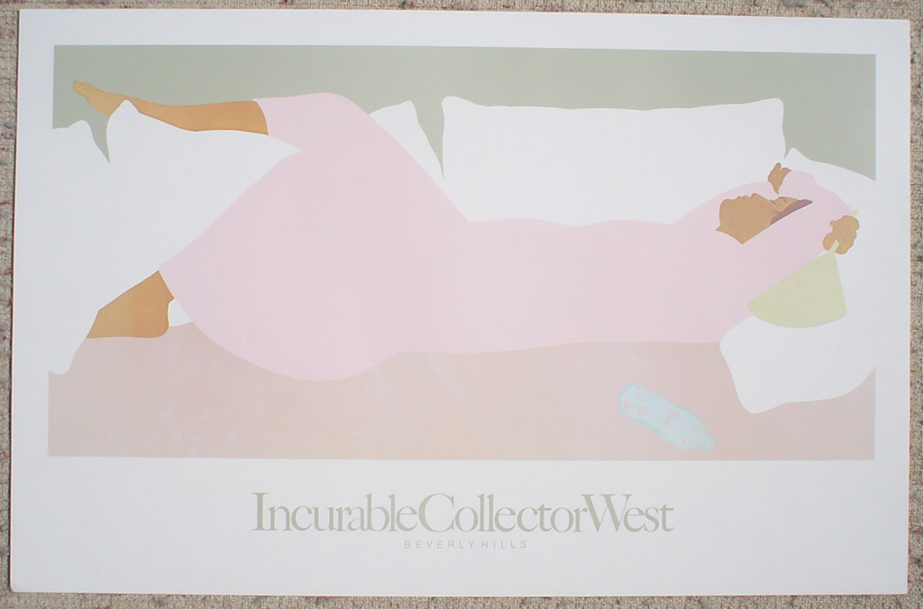 Island Noon by Pegge Hopper, shown with full margins - fine art poster print
