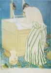 La Toilette by Mary Cassatt - offset lithograph fine art poster print