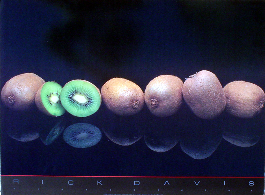 Kiwis by Rick Davis - offset lithograph fine art photographic poster print