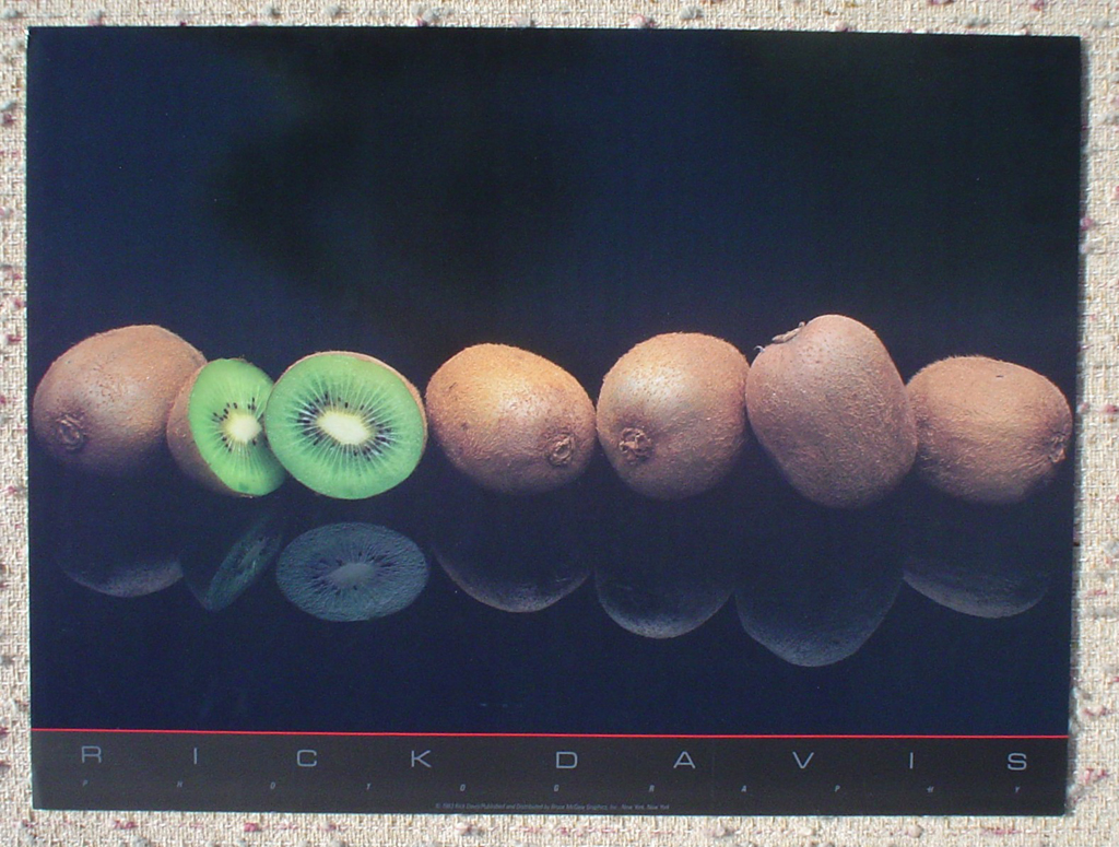 Kiwis by Rick Davis, shown with full margins - offset lithograph fine art photographic poster print