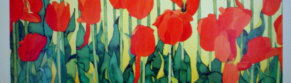 Tulips by Donald Ewen, hand-signed by artist - fine art poster print