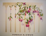Fuchsia by Donald Ewen, hand-signed by artist - fine art poster print