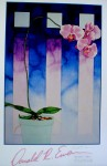 Orchid by Donald Ewen - offset lithograph fine art print, hand-signed in pencil