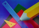 Geometry by Frank Farrelli - offset lithograph fine art print