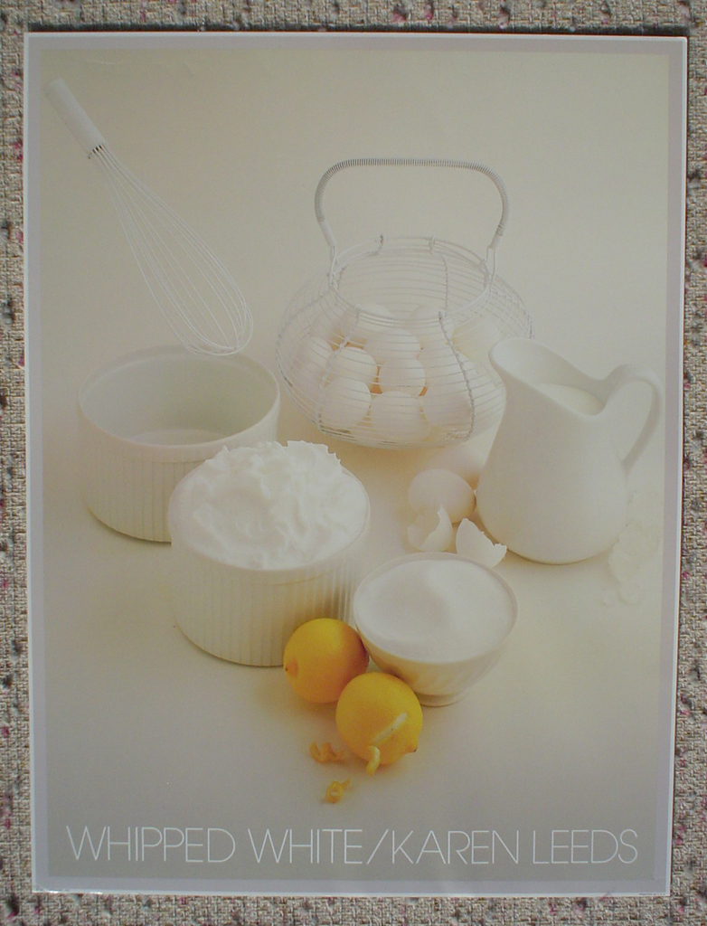 Whipped White by Karen Leeds, shown with full margins - offset lithograph fine art photographic poster print