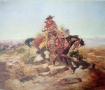 Riding Line by Charles Marion Russell - offset lithograph fine art print