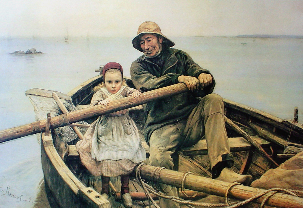 The Helping Hand by Emile Renouf - offset lithograph fine art print