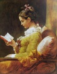 A Young Girl Reading by Jean Honore Fragonard - collectible collotype fine art print