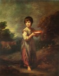 Lavinia The Milkmaid by Sir Thomas Gainsborough - offset lithograph fine art print