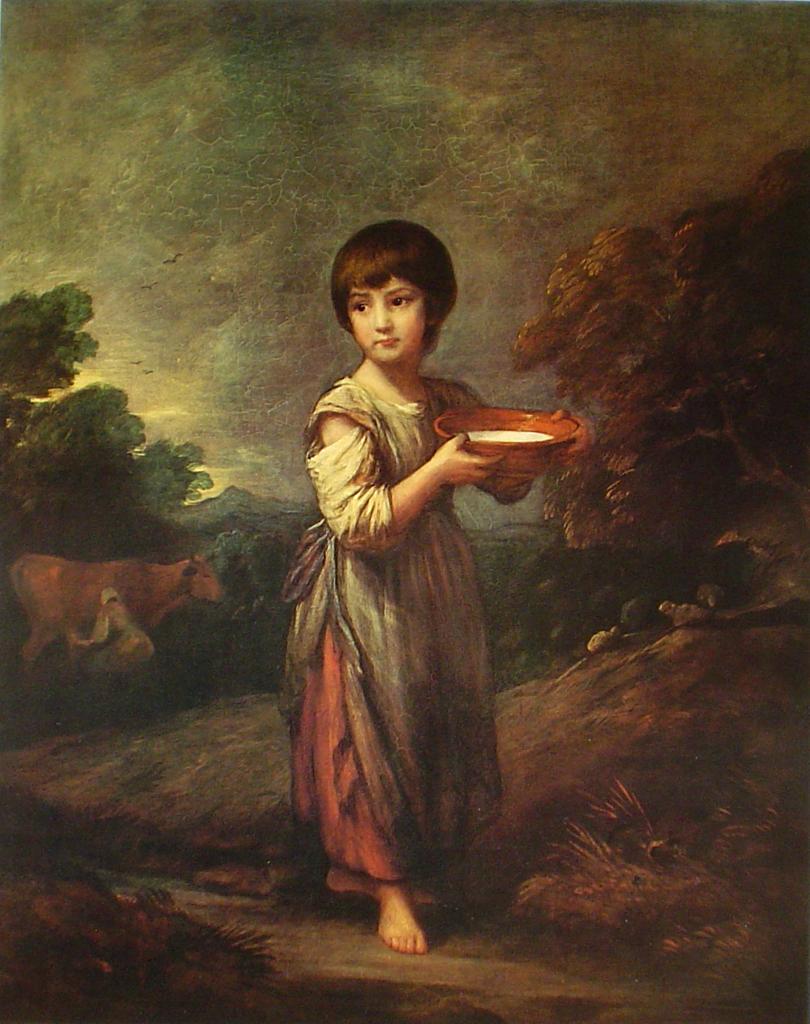 Lavinia The Milkmaid by Sir Thomas Gainsborough - offset lithograph fine art print