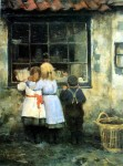 The Village Shop by Robert Gemmell Hutchison - offset lithograph fine art print