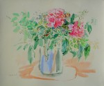 Roses At Villeneuve by Oskar Kokoschka - collectible collotype fine art print
