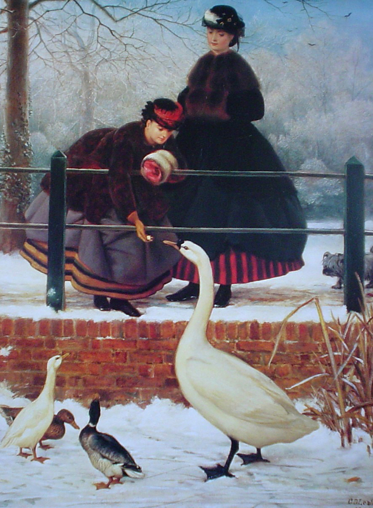 Frozen Out by George Dunlap Leslie - offset lithograph fine art print