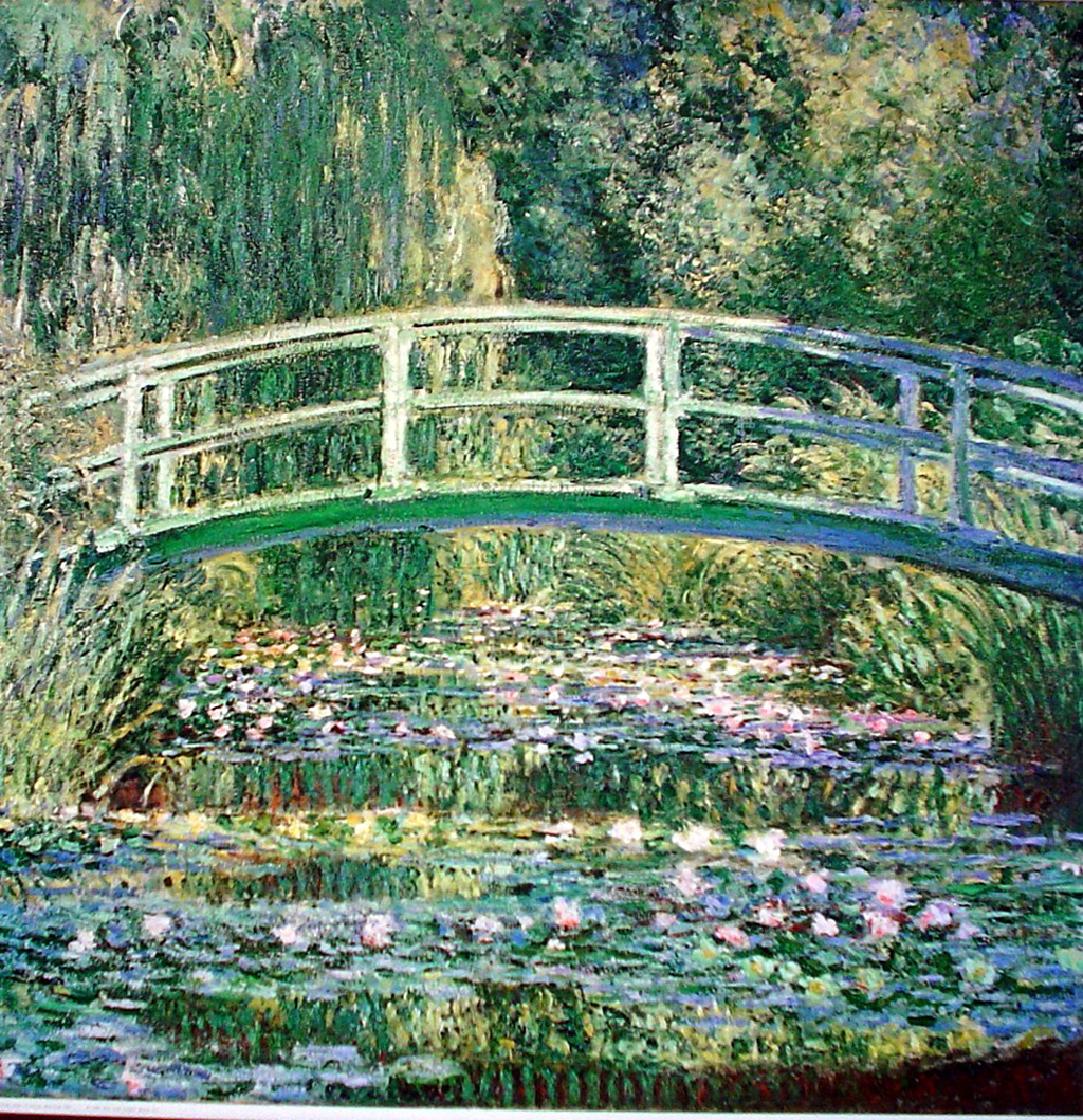 Water Lillies And Japanese Bridge by Claude Monet - offset lithograph fine art print