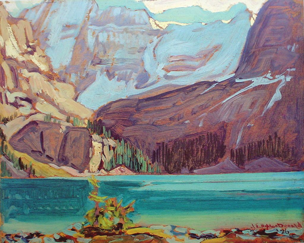 Lake O'Hara, Rocky Mountains by James Edward Hervey MacDonald - Group of Seven offset lithograph fine art print