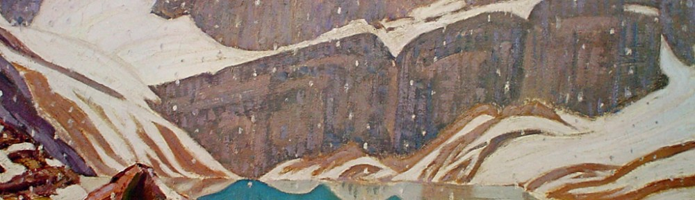 Mountain Snowfall, Lake Oesa by James Edward Hervey MacDonald - Group of Seven offset lithograph fine art print