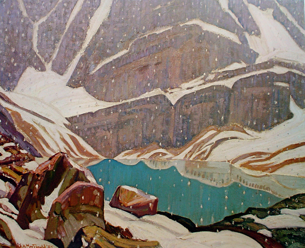 Mountain Snowfall, Lake Oesa by James Edward Hervey MacDonald - Group of Seven offset lithograph fine art print