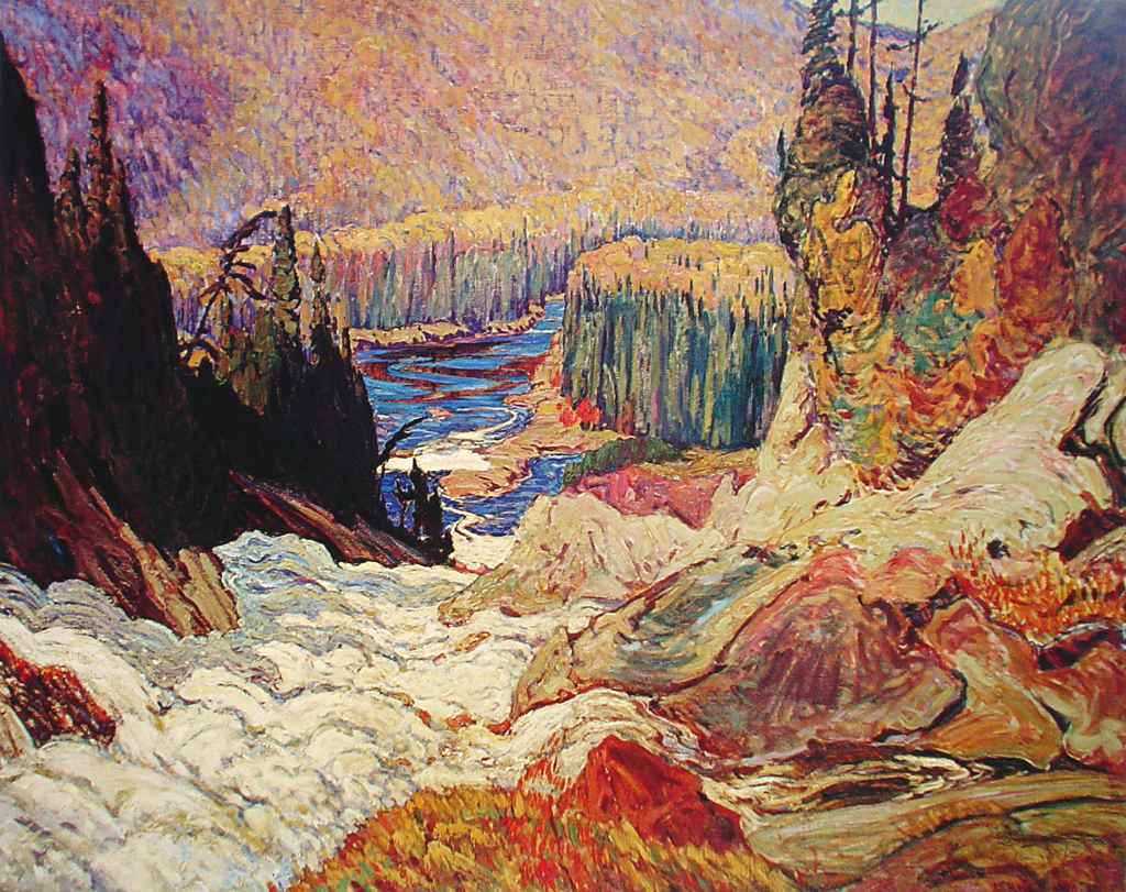 Falls, Montreal River by James Edward Hervey MacDonald - Group of Seven offset lithograph reproduction vintage fine art print