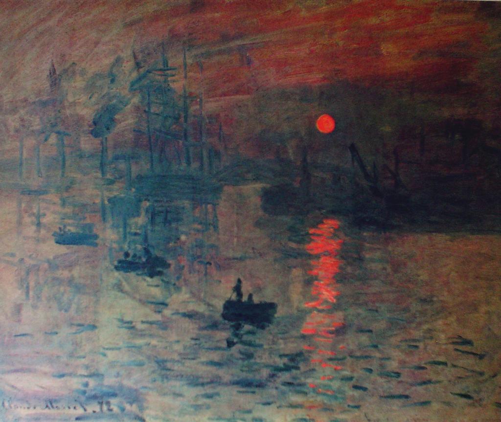 Impression: Sunrise by Claude Monet - collectible collotype fine art print