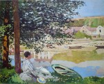 The River, 1868 by Claude Monet - offset lithograph fine art print