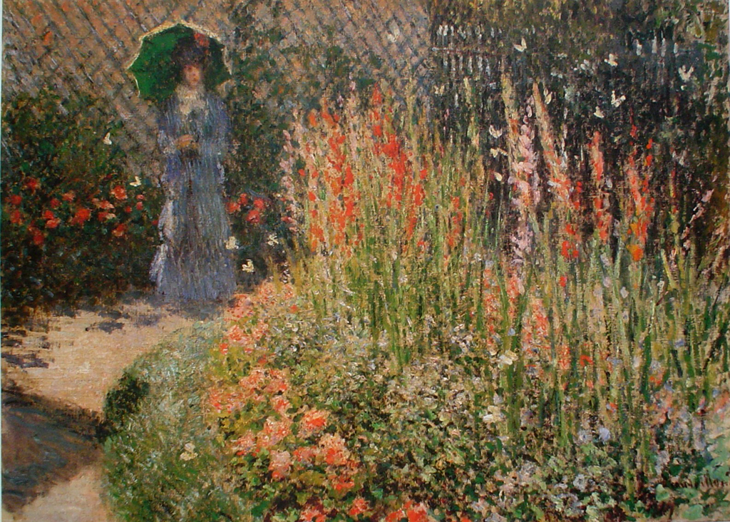 Gladioli,1873 by Claude Monet - offset lithograph fine art print