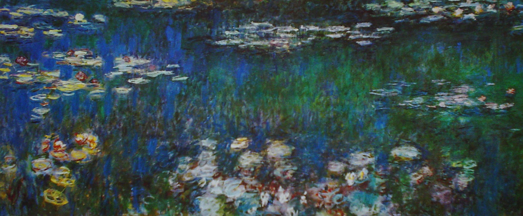 Water Lillies, Detail, Left Side by Claude Monet - offset lithograph fine art print