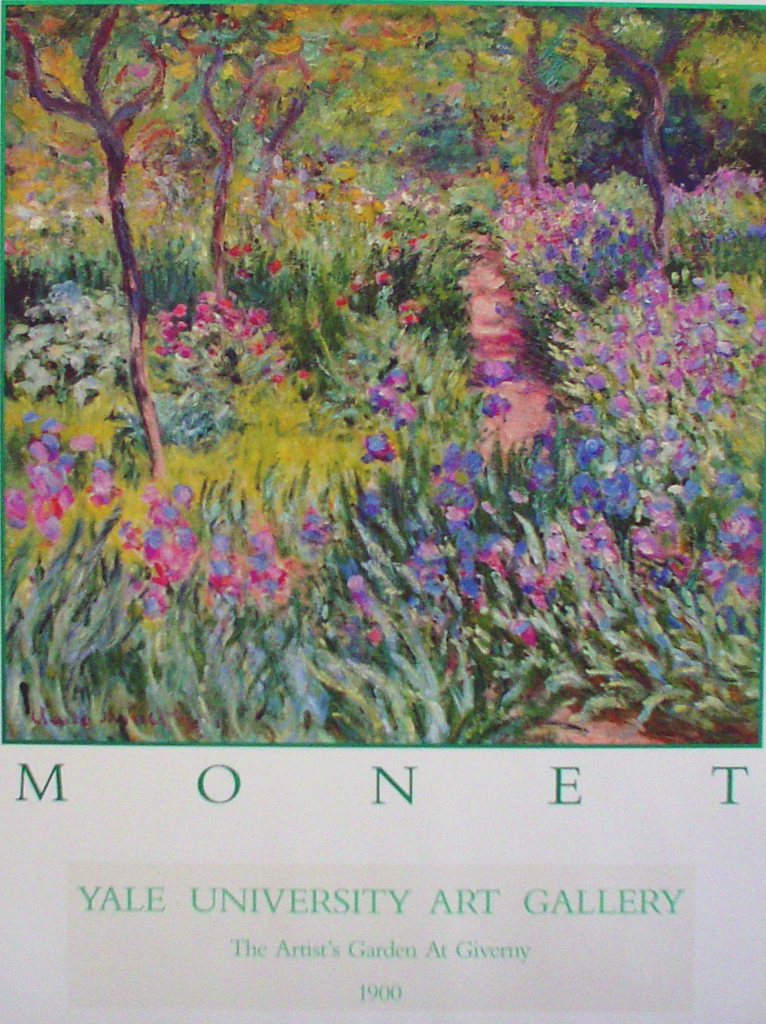 Artist's Garden At Giverny by Claude Monet - offset lithograph fine art poster print