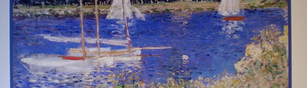 Le Bassin At Argenteuil by Claude Monet - offset lithograph fine art poster print