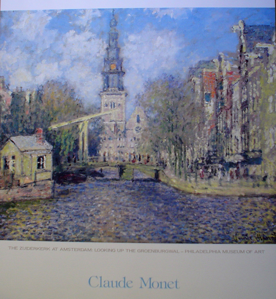 Zuiderkirk At Amsterdam by Claude Monet - offset lithograph fine art poster print