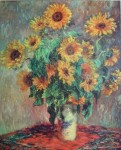 Sunflowers by Claude Monet - collectible collotype fine art print