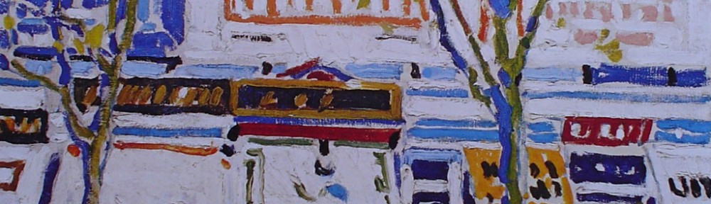 Billboards by David Milne - offset lithograph fine art print