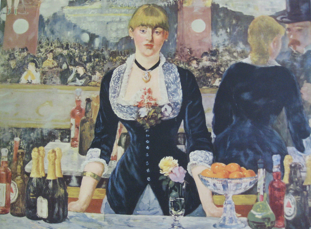 A Bar At the Folies Bergere by Edouard Manet - collectible collotype fine art print