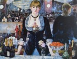 A Bar At The Folies Bergere by Edouard Manet - offset lithograph fine art print