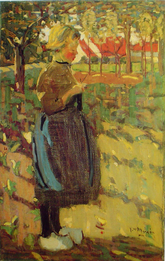 Girl Knitting, Brittany by James Wilson Morrice - offset lithograph fine art print