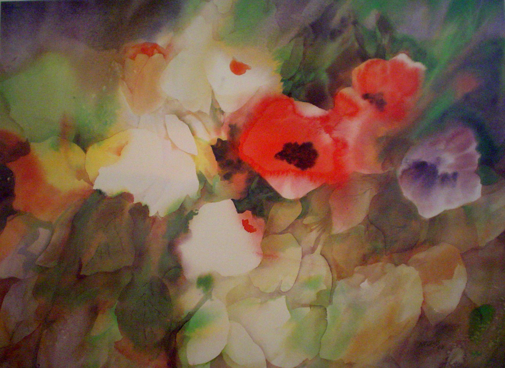 Poppies by Barbara Nechis - offset lithograph fine art print