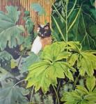 Noi Siamese Cat by Gene Pelham - offset lithograph fine art print