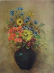 Wildflowers by Odilon Redon - collectible collotype fine art print