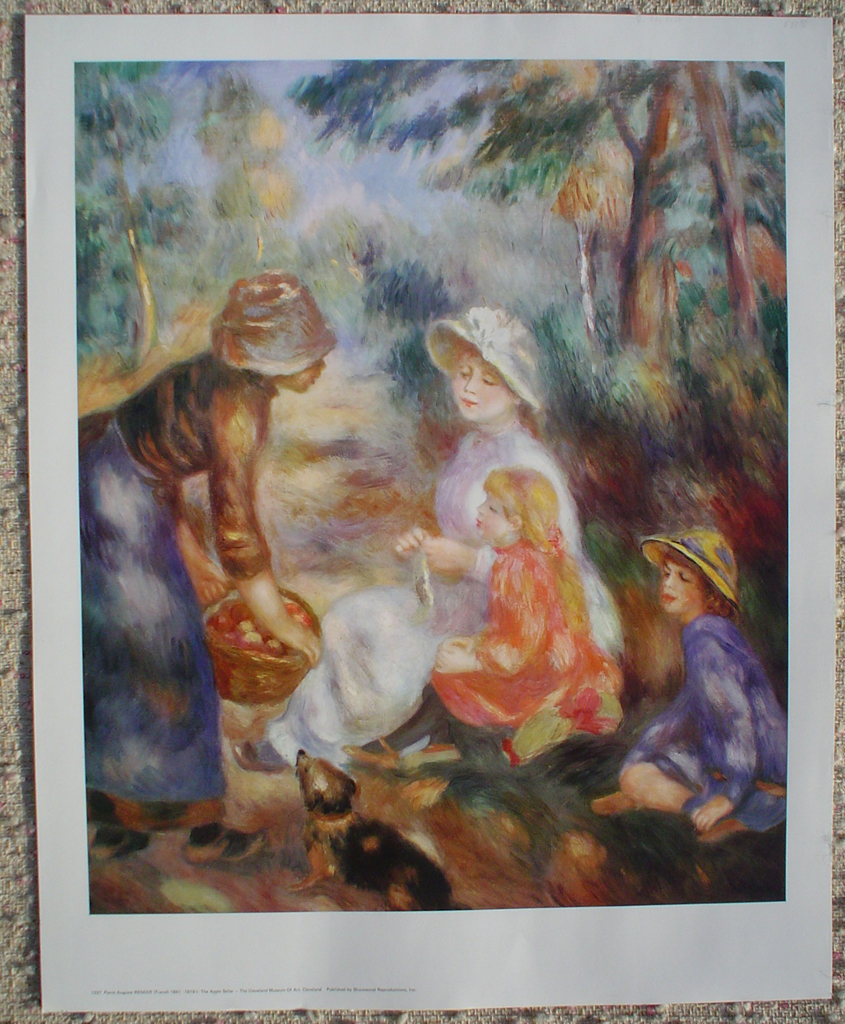The Apple Seller by Pierre-Auguste Renoir, shown with full margins - offset lithograph fine art print