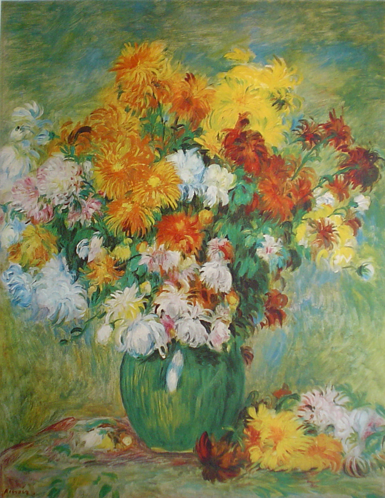 Chrysanthemum sby Pierre-Auguste Renoir - collectible collotype fine art print