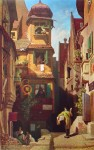 The Postman (Der Briefbote im Rosenthal) by Karl (Carl) Spitzweg - collectible collotype fine art print