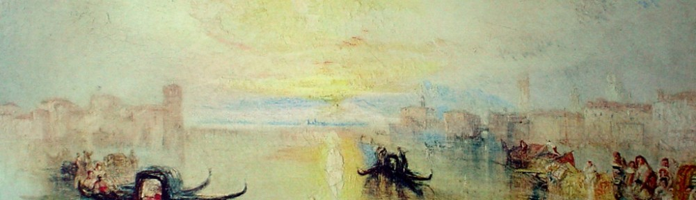 A Venetian Scene, San Benedetto, Looking Towards Fusina by Joseph Mallord William Turner - collectible collotype fine art print
