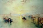 A Venetian Scene, San Benedetto, Looking Towards Fusina by Joseph Mallord William Turner - collectible collotype fine art print
