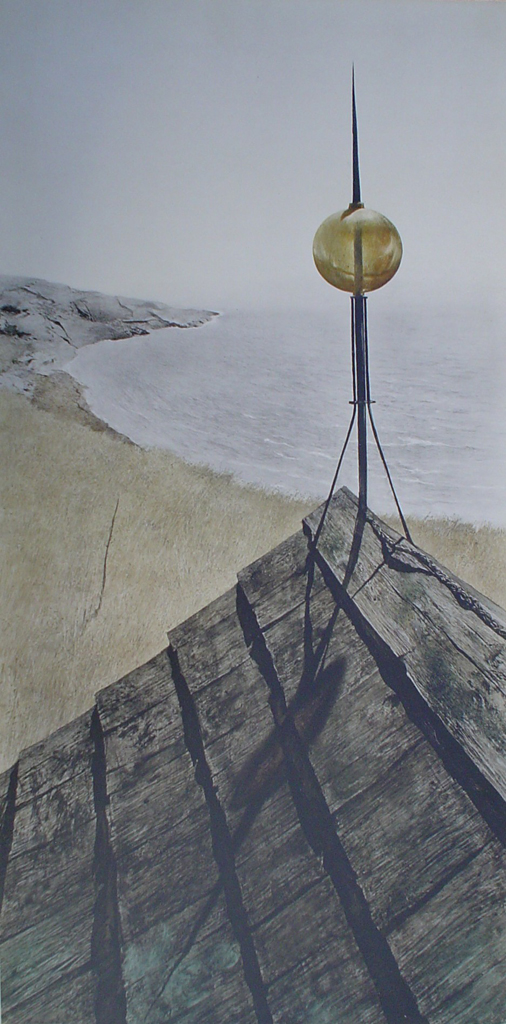 Northern Point by Andrew Newell Wyeth, transferred to canvas - collectible collotype fine art print