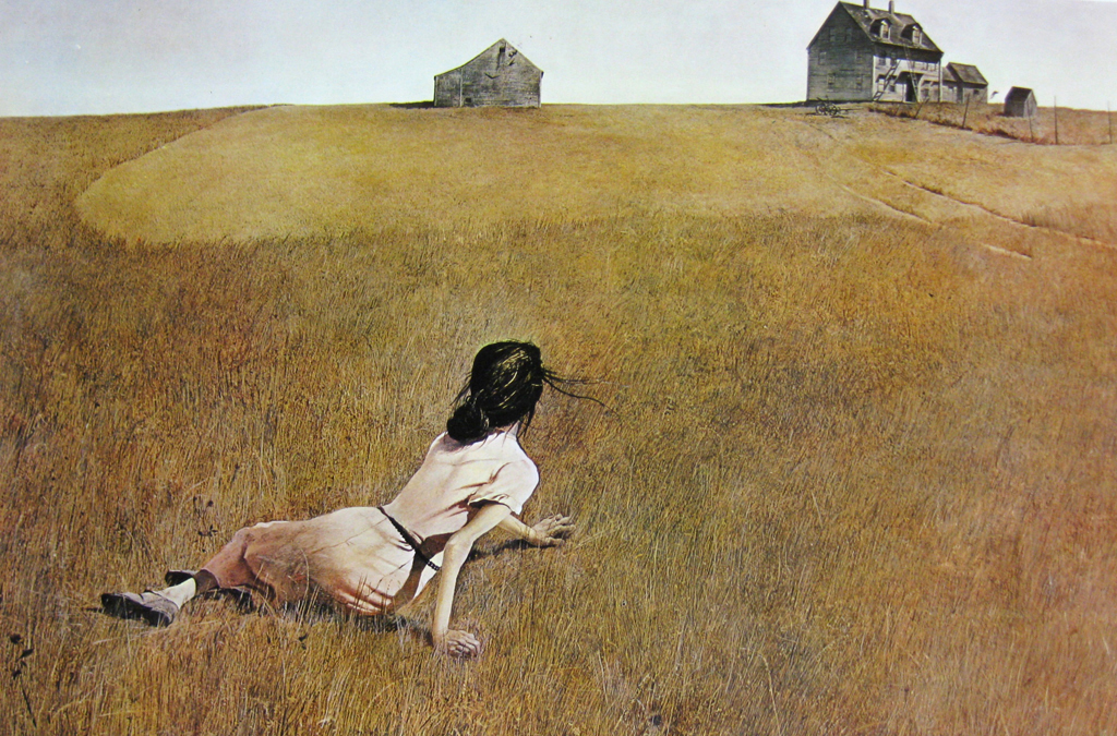 Christina's World by Andrew Newell Wyeth - offset lithograph fine art print