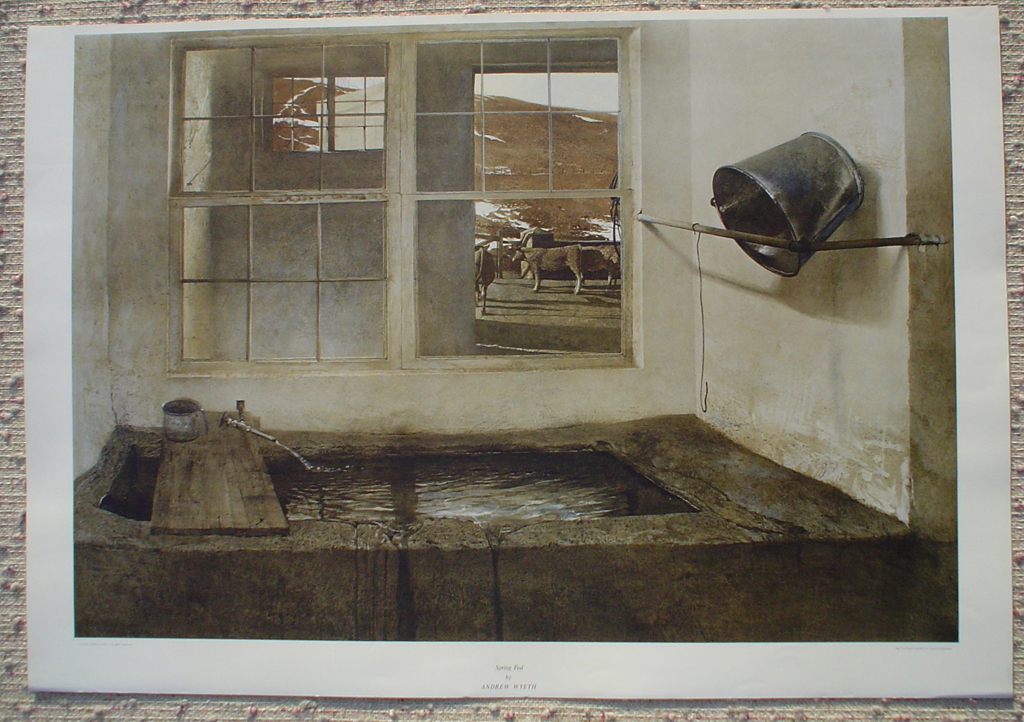 Spring Fed by Andrew Newell Wyeth, shown with full margins - collectible collotype fine art print