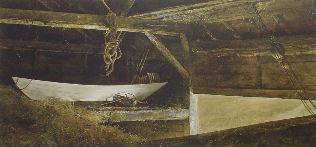 Hay Ledge by Andrew Newell Wyeth - collectible collotype fine art print