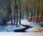Winter Woods by Kent Wallis - offset lithograph fine art poster print
