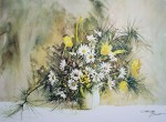 Tulips And Daisies by Carolyn Blish - offset lithograph fine art print