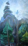 Mountain Forest by Emily Carr - offset lithograph fine art print